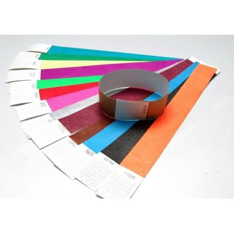 pulseras de papel de un sólo uso