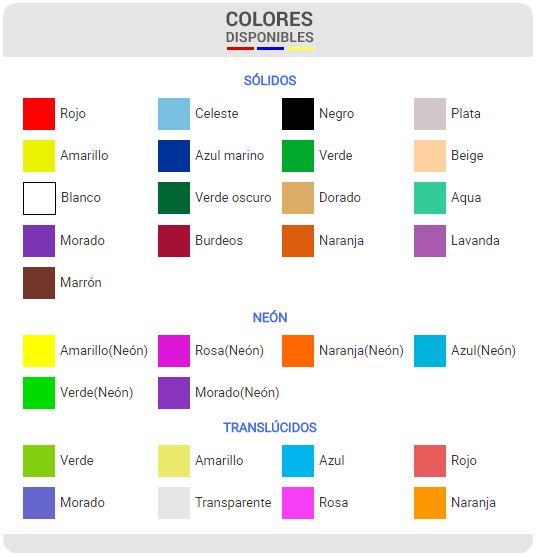 Gama de colores de pulsera