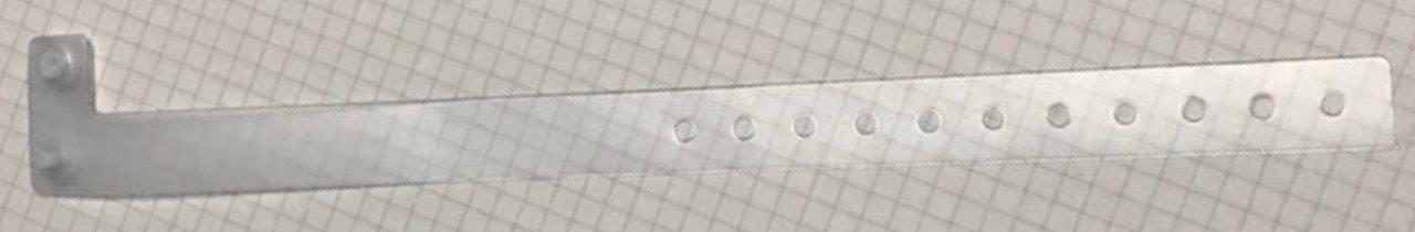 Pulsera de vinilo translúcida