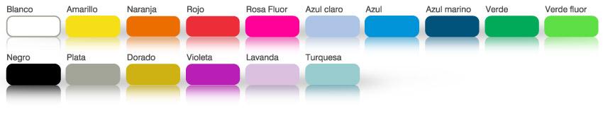 colores de pulseras de papel