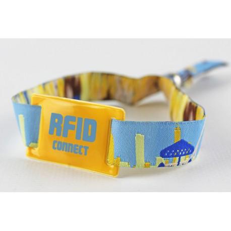 Pulsera de tela 1 solo uso y RFID